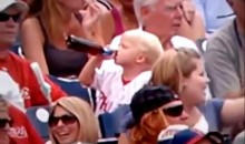 Young Phillies Fan Takes A Big Gulp Of Beer