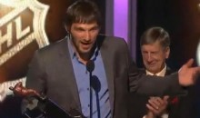 Alex Ovechkin Will Not Get Off The Stage!