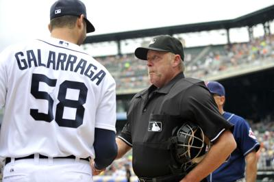 galarraga gives joyce lineup card