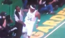 Ref Eats A Right Hook From Paul Pierce