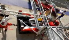 Cameraman Run Over By Car In Pit Row (Video)