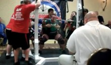 Weightlifter Attempting To Squat 1008 lbs. Projectile Vomits On Judge Before Passing Out