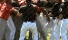 Home Run Trot Disrupted By Bench-Clearing Brawl