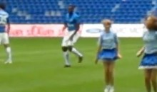 Get This Soccer Player Some Pom Poms (Video)