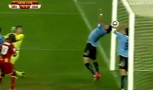 Uruguay's Luis Suarez Hand Of God (GIF)