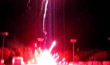 Minor League Fireworks Go Awry (Video)