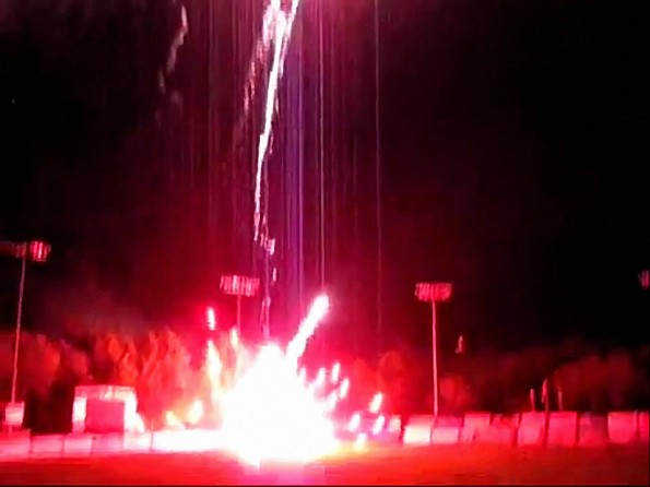 Minor League Fireworks Go Awry