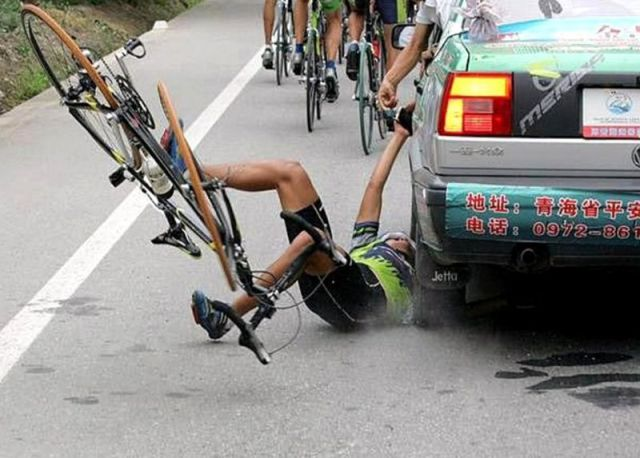 Bike Sport Crash Since when did bike riding