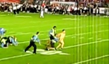 Streaker Breaks 6 Tackles Before Being Politely Asked To Leave