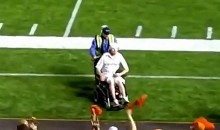 Wheelchair Man Invades The Field During CFL Game