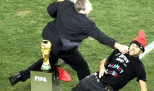 Jimmy Jump Attempts To Touch World Cup Trophy, Gets A Stiff Right (Video)