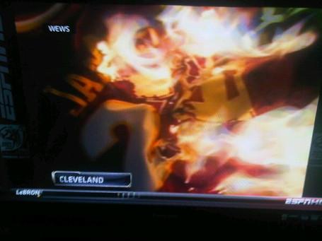 burning james jersey