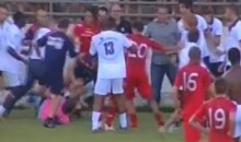 Italian And French Football Clubs Brawl During Not-So-Friendly Friendly