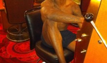Ochocinco Loses His Pants Gambling…Literally! (PIC)