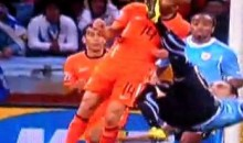 Dutch Player Demy De Zeeuw Kicked In The Face (GIF)