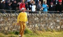 Miguel Angel Jimenez Hits Remarkable British Open Bank Shot (Video)