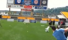Sidney Crosby Shoots Some Field-Goals At Heinz Field (Video)