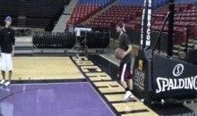 Awesome Basketball Trick-Shot (GIF)