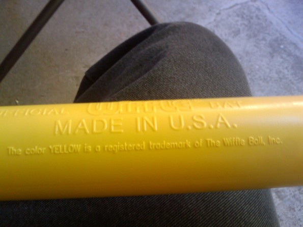 wiffle ball trademarked yellow