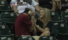 Astros Fan Let's Foul Ball Hit Girlfriend (Video)
