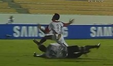 Boca Juniors Goalkeeper Snaps Opposing Player's Leg