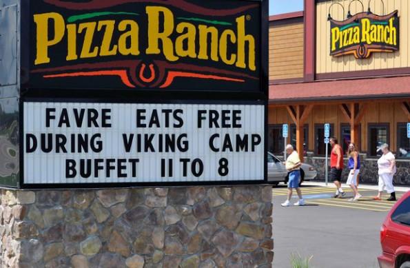 Brett Favre Eats Free