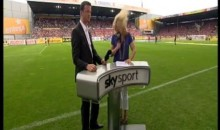 Sportscaster Jessica Kastrop Hit in the Head with Soccer Ball (GIF)