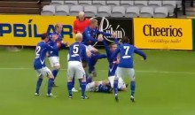 Iceland Soccer Team 'Human Bicycle' Celebration (Video)