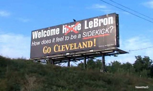 LeBron James Billboard Diss