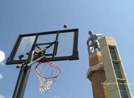 The Worlds Farthest Basketball Shot