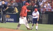 Kid Breaks Arm, Toughs It Out During On-Field Contest In Anaheim