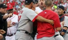 Reds And Cards Exchange Kicks And Punches In Bench-Clearing Brawl (Video)
