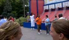 LeBron James Sucks At Amusement-Park Basketball (Video)