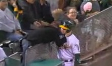 This Oakland A's Ball Boy Sure Knows How To Pick Up Chicks (Video)