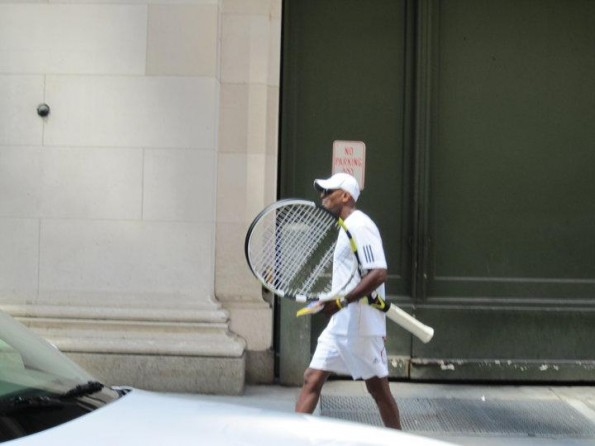 over-sized tennis racquet