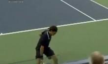 Federer Hits Incredible Through-The-Legs Winner