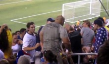 Fan Get's Bitch-Slapped During USA vs. Brazil Friendly (GIF)