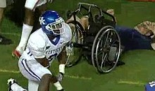 Gators' DB Will Hill Steamrolls Man In A Wheelchair (Video)