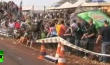 Grandstand Collapses During Brazilian Car Race (Video)
