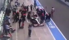 Hispania Pit Crew Member Struck By Sakon Yamamoto's Car (Video)