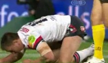Check Out Simon Dwyer's Devestating Hit During An NRL Game