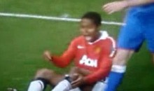 Man U's Antonio Valencia Breaks Leg During UCL Action (Video)