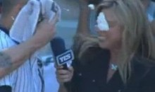 YES Network's Kim Jones Gets Some Of Swisher's Cream On Her Face