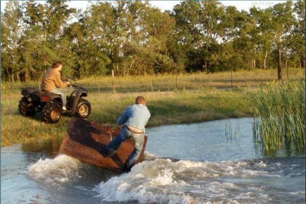 redneck wakeboarding