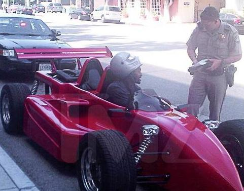 ron artest pulled over in indy car