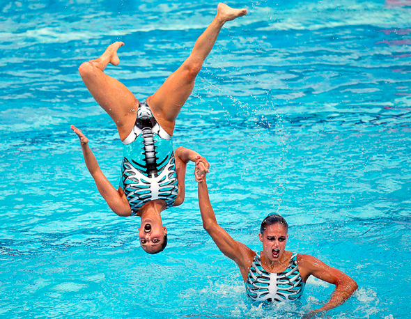 see-thru synchronized swimming