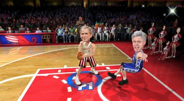 Bush vs Clinton NBA Jam