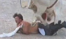 Drunk Man Stumbles Into Rodeo Ring (Video)