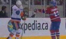 Habs' Mike Cammalleri Hacks Away At Nino Niederreiter (Video)