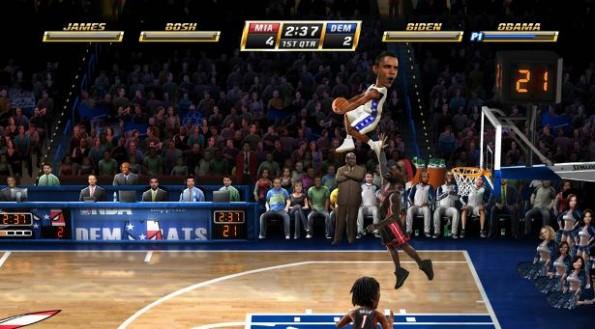 Obama dunk NBA Jam